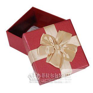 正方形 韩式高档螺纹大蝴蝶节礼品盒