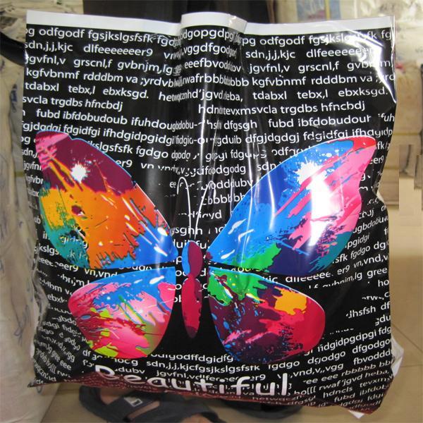提手蝴蝶 塑料袋手提袋服装袋包装袋高档袋