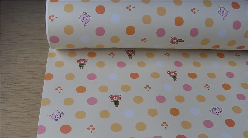 韩版礼品纸 包书纸礼物纸 墙纸 可爱点点下午茶