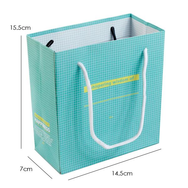 设计欣赏 包装袋设计 韩国精美礼品袋 手提袋 包装袋 纸袋 青绿底格