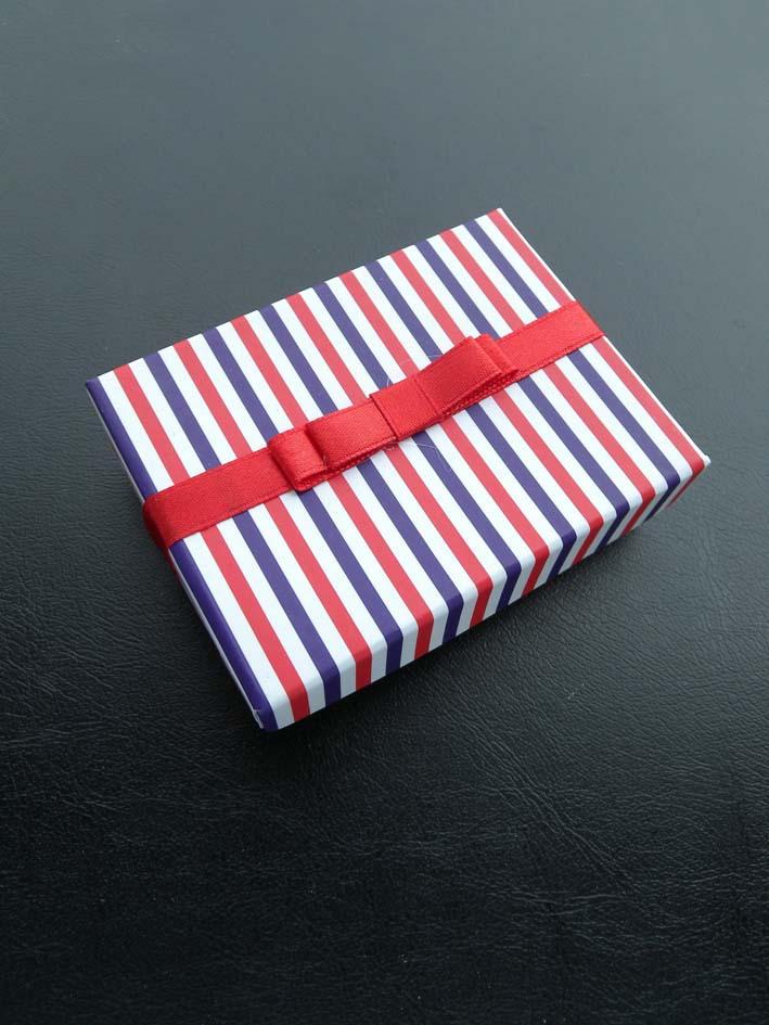 蓝红条纹包装盒/首饰盒/礼品盒/首饰品盒子/套装盒 耳环盒 戒指盒