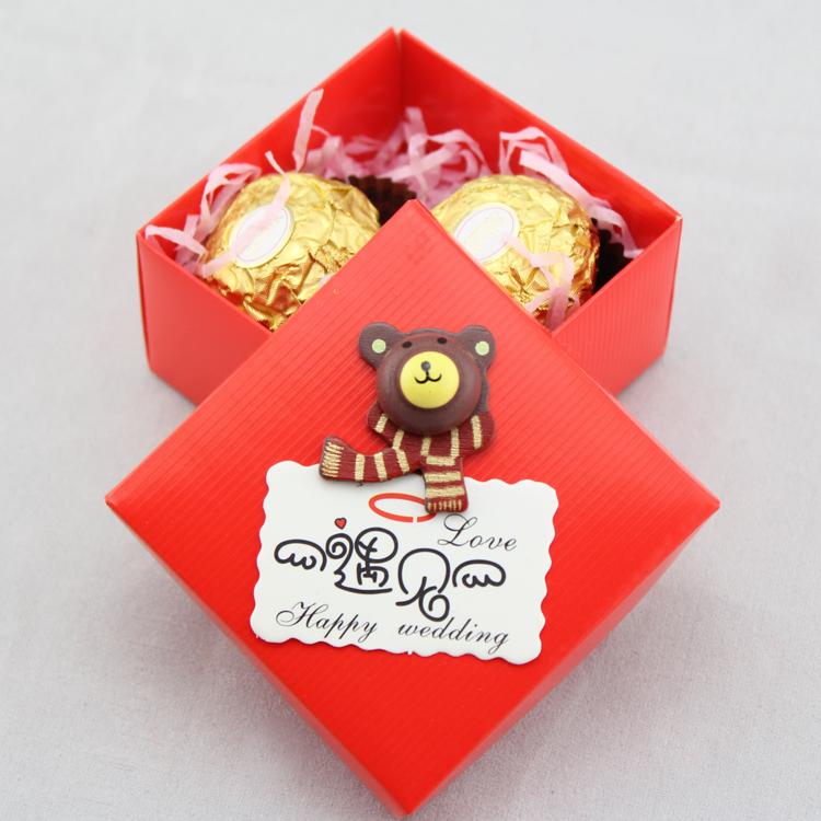 大红唯美方盒 欧式婚礼回礼/结婚创意喜糖盒