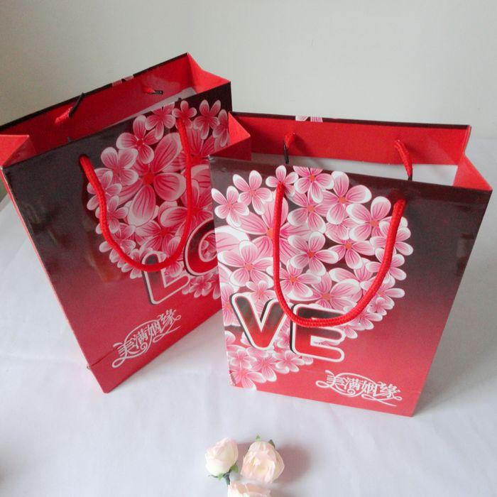 婚庆用品 礼品袋 手提喜糖盒 个性喜糖袋