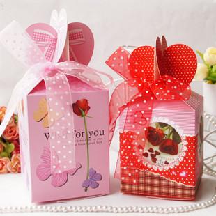 丝带包装盒 圣诞礼品盒 苹果盒 平安夜苹果包装 大小号礼盒
