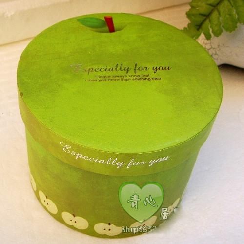 可爱苹果圆形礼品包装盒节日礼盒