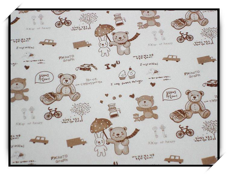 可爱卡通小熊图案 艺术纸