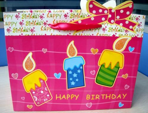 生日蜡烛撒粉可爱礼品袋子手提袋包装袋