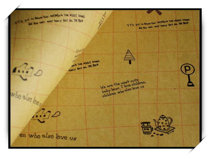 方格paris 包装纸 牛皮纸 背景纸 包书纸
