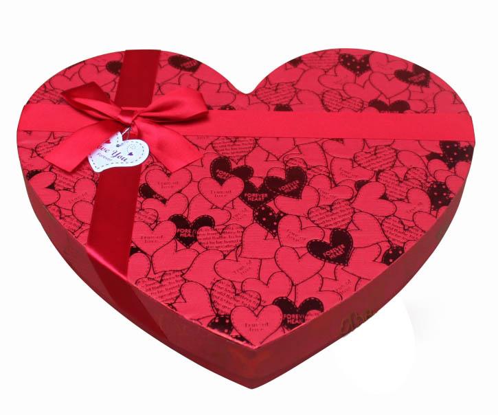 红心形27格巧克力礼盒 - 包装盒设计,高档礼品包装盒