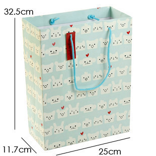 淡蓝底猫咪礼袋 服饰包装袋 - 包装袋设计_包装袋设计