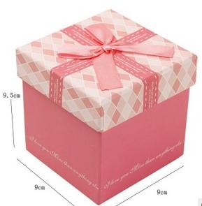 粉色菱形格子礼盒 包装盒