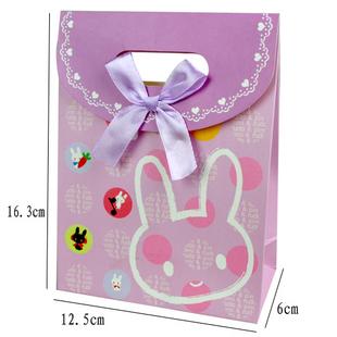 可爱动物图案纸袋 翻盖礼品袋