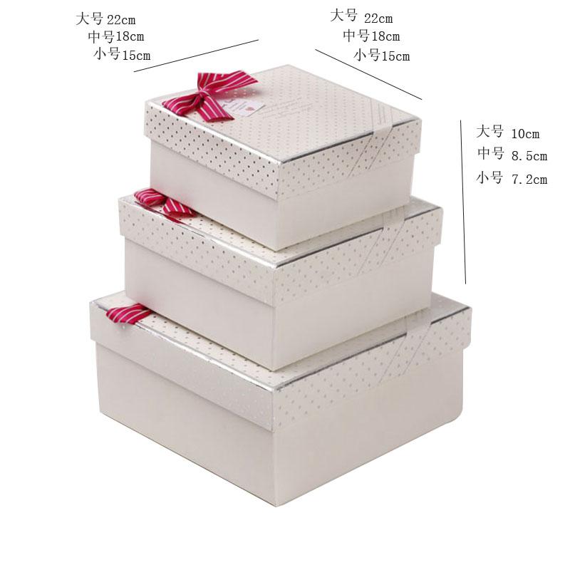 白色底銀色點點禮盒 包裝盒 - 包裝盒設計,高檔禮品盒