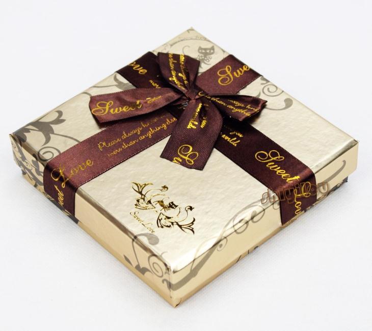 金色巧克力礼品盒 包装盒