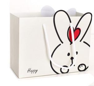 白底兔子礼袋 礼物包装袋