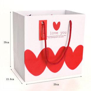 白底三个爱心精美礼品袋 - 包装袋设计_包装袋设计 .