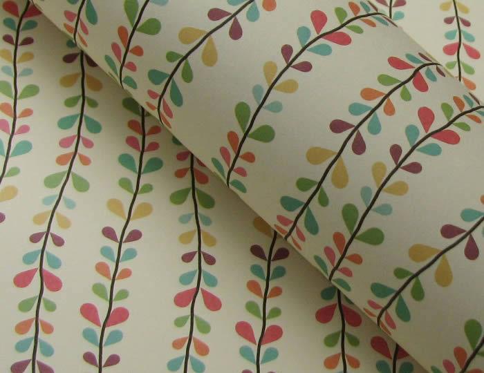叶子手绘礼品包装纸