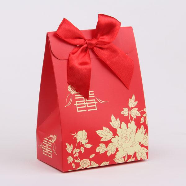 创意金红喜糖盒_包装盒设计图