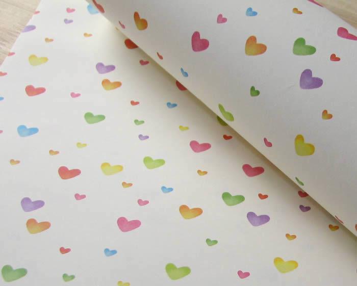 爱之心礼品包装纸