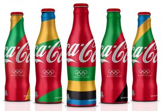 可乐瓶子手绘画