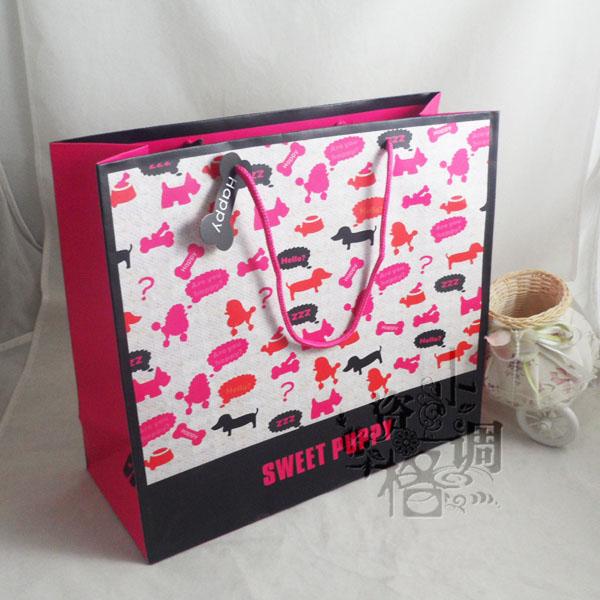 玫红小狗礼品袋☆包装手提袋_手提袋设计欣赏