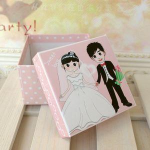 欧式 新郎新娘喜糖盒_包装盒设计图