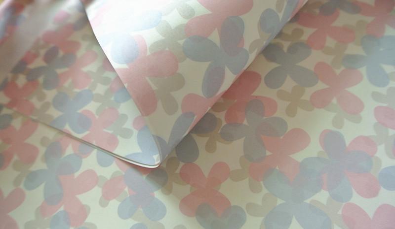 蝴蝶花朵礼物包装纸 - 包装纸,礼品包装纸(www.bz-e.