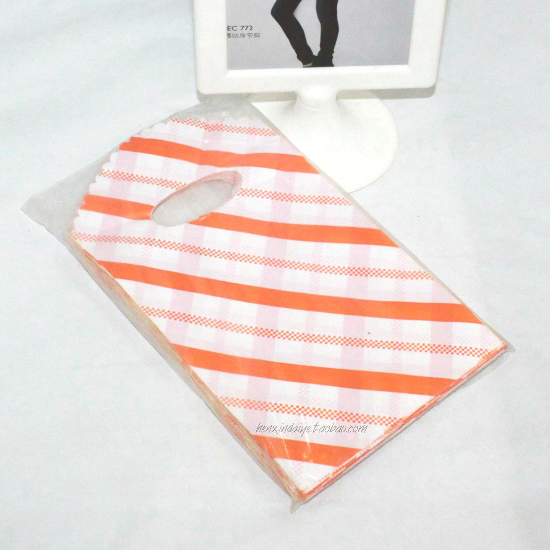 橙条精品袋 首饰品包装袋_包装袋设计