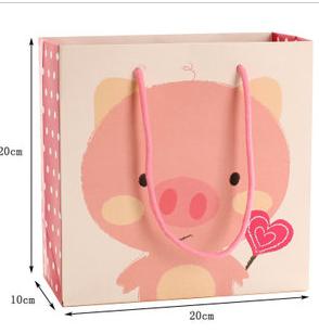 可爱小猪礼品袋 粉色卡通图案手提袋_手提袋设计欣赏