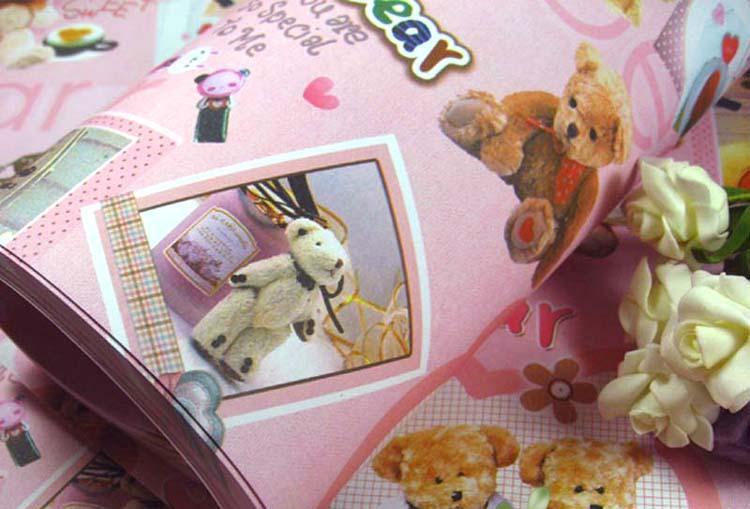 个性小熊卡通礼品包装纸