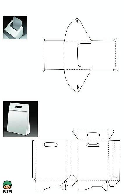 9种包装盒展开图 刀模模切设计图