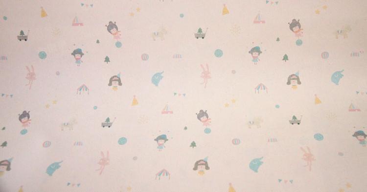 设计欣赏 包装纸 女孩兔子马戏礼物礼品包装纸 包书皮纸  相关热词