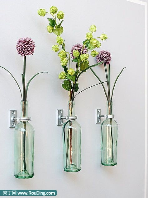 包装技术 手工制作 啤酒瓶diy简单的创意生活     酒瓶子制作墙壁花瓶