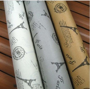 毅轩妈妈包装纸 3色时尚埃菲尔铁塔礼品包装纸