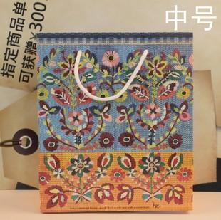 炫彩购物袋 牛皮纸袋 童装包装袋 牛皮纸礼品袋 节日礼品手提袋
