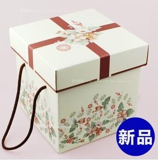 环保牛皮纸盒子 复古礼品盒正方形大号