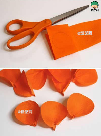 纸花的制作方法 日式手工包装盒纸花包装装饰