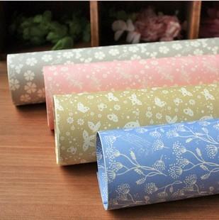 设计欣赏 包装纸 韩国包装纸 韩版礼品包书纸 包书皮 素雅清新花朵