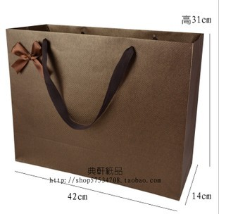 设计欣赏 手提袋设计 咖啡色螺旋纹手提袋 手提纸袋 礼品袋 商务礼袋