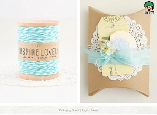 蕾丝包装纸盒展开图 diy礼物包装图解