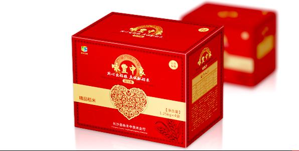 大米包装箱设计 红色/山特产包装设计