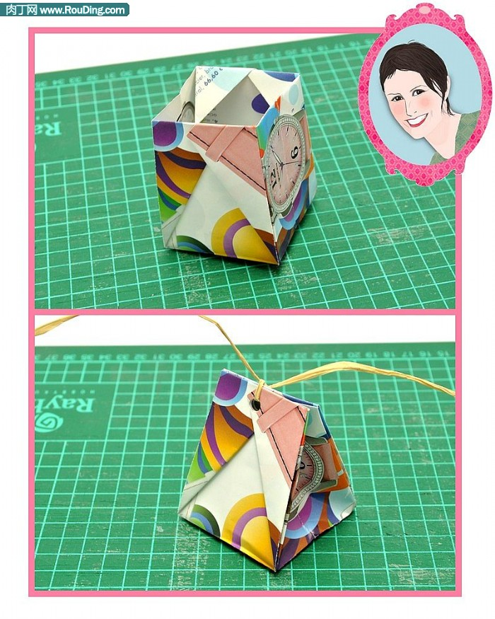 实用大方的折纸礼物包装袋的做法