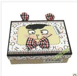 韩国可爱长方形大号卡通图案礼品盒 儿童节礼物盒包装