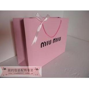 设计欣赏 手提袋设计 高档名牌缪缪miumiu礼品袋 纸袋包装袋 购物手提