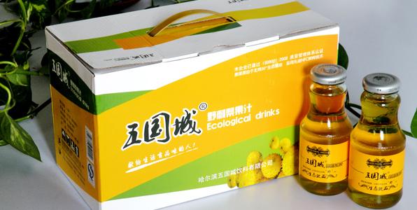 五国城山野果保健饮品包装箱设计