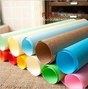 纯色包装纸牛皮纸彩虹纸彩色包装纸包礼物包书拍摄