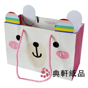 韩式礼品袋 米色底小熊包装袋子