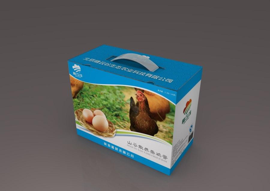 柴鸡蛋包装箱设计 包装设计网