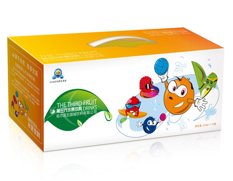 五国城果浆饮料包装箱子(饮料包装设计)