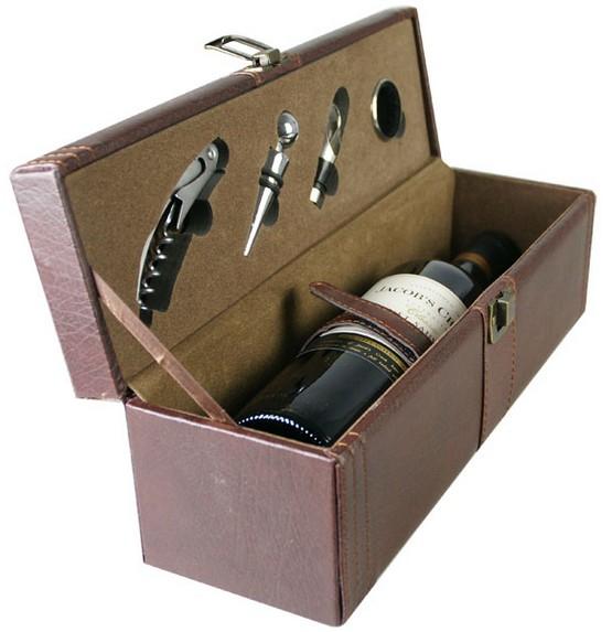 红酒高档拼皮皮质单支红酒包装盒子,红酒包装设计外形漂亮,高贵